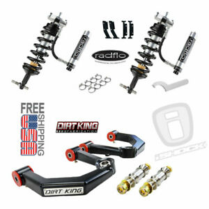 Radflo Adj Shocks Dirt King Mid Travel Ford F150 Front Kit 2005