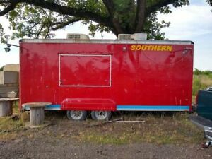 Ready To Use Wells Cargo Food Concession Trailer Clean Mobile Kitchen Unit For