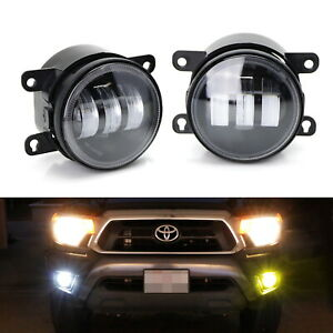White Yellow Dual Color 20w High Power Led Fog Light Kit For Honda Nissan Subaru