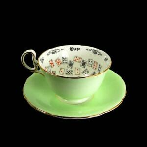 Antique Aynsley Cup Of Knowledge Fortune Telling Teacup Tea Leaf Reading 1925