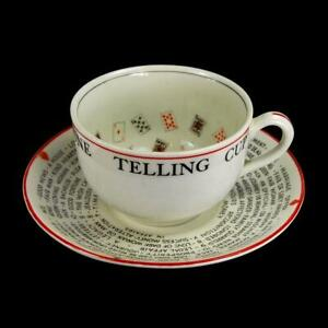 Antique Alfred Meakin Gypsy Teresa Cup Of Knowledge Fortune Telling Teacup Tea