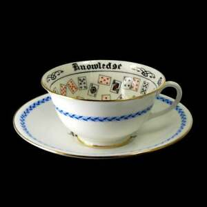 Antique Aynsley Wembley Cup Of Knowledge Fortune Telling Teacup Tea Leaf 1925