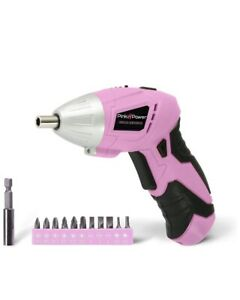Pink Power Pp481 3 6 Volt Cordless Electric Screwdriver Rechargeable Screw Gun