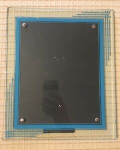 Large Vintage Art Deco Reverse Painted Picture Frame W Easel Stand 12x10