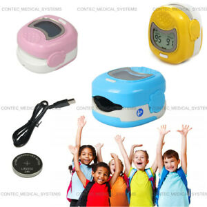 Lcd Child Pediatric Finger Pulse Oximeter Spo2 Blood Oxygen Monitor With Battery