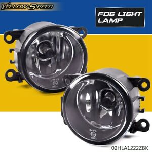 For Ford Focus 2012 2013 2014 Clear Lens Driving Fog Lights Bumper Lamps bulbs