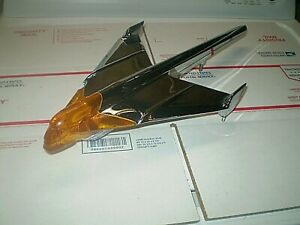 1954 Pontiac Chrome Hood Ornament With Insert Super Rare Nos Gm Original