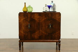 French Art Deco Antique Rosewood Server Huntboard Bar Cabinet 31818
