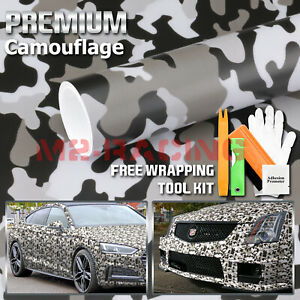 army Gray Camouflage Camo Vinyl Sticker Wrap Decal Film Air Release Channel
