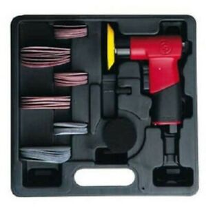 Chicago Pneumatic Mini Air Pistol Grip Orbital Sander Kit For 2 3 Sanding Disk