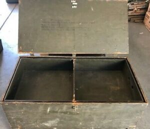 Vintage 1960 S Us Military Wood Foot Locker Trunk Chest Green W Tray