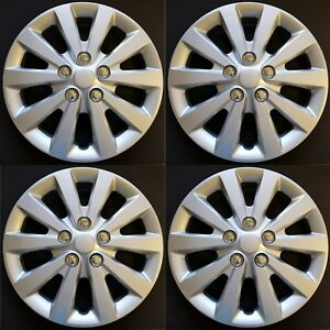 New Wheel Covers Hubcaps Fits 2013 2019 Nissan Sentra S Sv 16 Silver Set Of 4