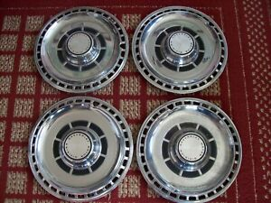 1969 Chevy Chevelle Set Of Four 14 Oem Hubcaps