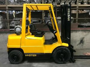 Hyster Pneumatic Forklift 5000lbs 3 Stage Side Shift