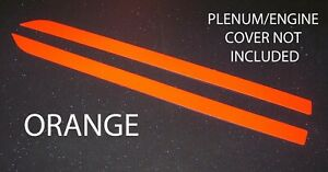 Orange Engine Plenum Cover Strips Decals Fit 2011 2014 11 14 Ford Mustang 5 0 V8