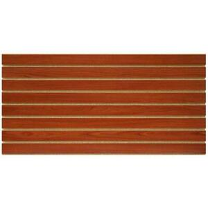 Slatwall Panel Home Tool Boards Gridwalls Cherry Finish 2 X 4 Ft 2 pcs Per Box
