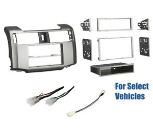 Silver Car Stereo Radio Dash Wire Kit Combo For Some 2014 2019 Toyota 4 Runner