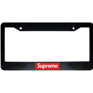 Supreme Gas Lover Red Box Usa Car Auto License Plate Tag Frame Holder