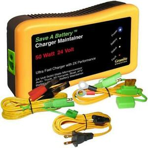 Battery Saver 24v 50w Battery Charger Maintainer Cleaner 2365 24