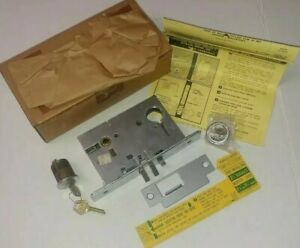 Nos Corbin Russwin Lox 9516 Us26d Rh Mortise Lock Body With Cylinder And Keys
