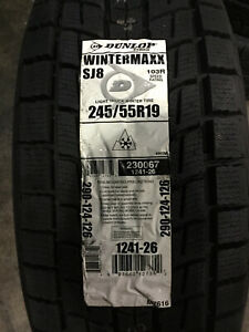 4 New 245 55 19 Dunlop Winter Maxx Sj8 Snow Tires