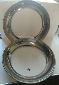 Vintage Chevy Ford Plymouth Buick Beauty Rings Wheel Rim Trim Ring 15