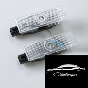 No Fading Led Door Projector Lights For Dodge Challenger Logo Pure White 08 20