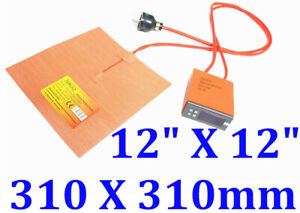 12 X 12 310 X310mm 750w Cube 3d Printer Heatbed Heater Plus Digital Controller