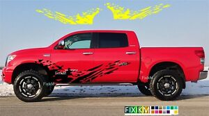 Side Graphics Vinyl Decal Mud Splash Stickers For Toyota Tundra Tacoma 4runner