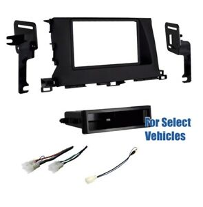 Single Din Car Stereo Dash Wire Kit Combo For Some 2014 2016 Toyota Highlander