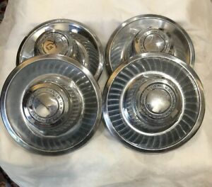 Chevrolet Motor Division Rally Wheel Center Caps Oem 3925805 set Of 4 Free S h