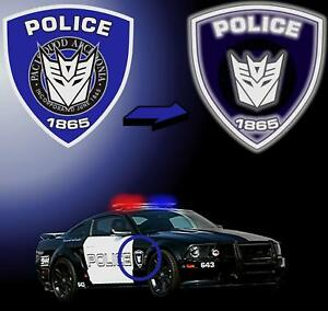 Transformers Barricade Reflective Police Movie Decals Stickers Saleen Mustang