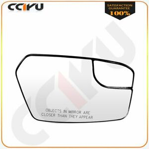 Chrome Convex W Blind Spot Passenger Side Mirror Glass For 11 12 Ford Fusion
