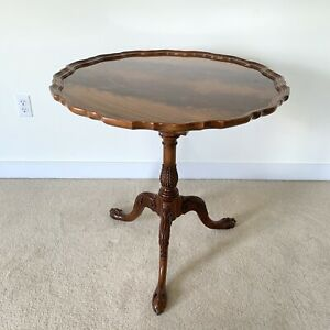 Councill Furniture Pie Crust Table Ball Claw Feet Flip Top 29 29 Entry Pedestal
