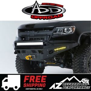 Add Honeybadger Winch Front Bumper For 15 19 Chevrolet Gmc Colorado Canyon