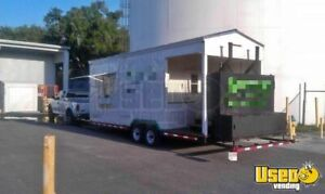 Used Bbq Smoker Food Concession Trailer With Porch For Sale In Florida