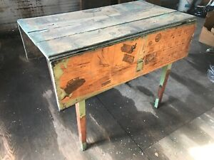 Walnut Hepplewhite Drop Leaf Table Nice Small Size In The Rough
