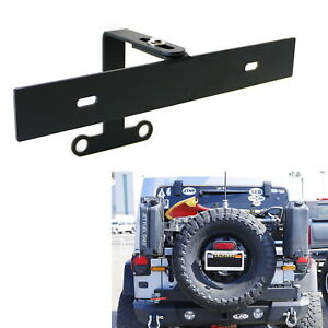 Rear Spare Tire Mount License Plate Relocator Bracket For 18 Up Jeep Wrangler Jl