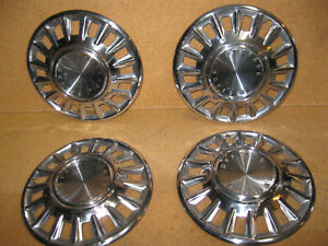 1968 Ford Mustang Oem 14 Stainless Hubcaps