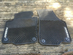 Set Of 2 Black Rubber All Weather Floor Mats Oe Fit For Vw Passat 2005 2014