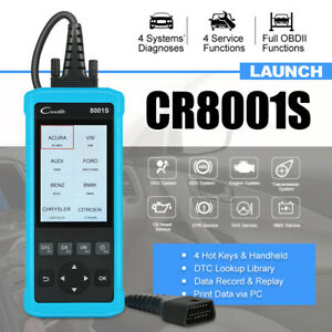 Launch Creader Cr8001s Obd2 Ii Can Auto Car Scanner Engine Abs Srs Epb Oil Reset