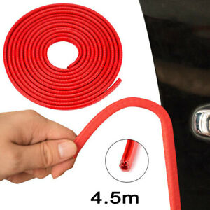 1pcs Red Door Edge Trim Rubber Guard Moulding Seal Strip Protector 4 5 Meters