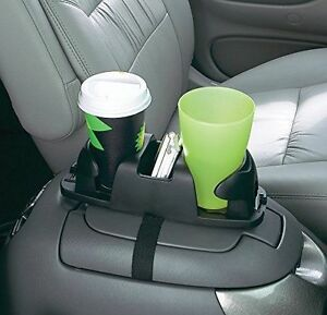 Car Double Cup Holder Coffee Drinks Rack Organizer Armest Floor Mount Travel New