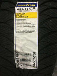 2 New 255 55 18 Goodyear Ultra Grip Ice Wrt Snow Tires