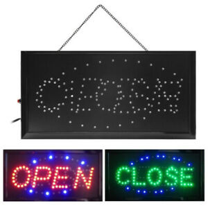 Animated Bright 2 In 1 Open closed Led Neon Light Shop Business Sign With On off