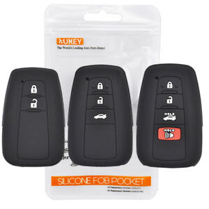 Xukey Silicone Key Cover Case Remote For Toyota Camry C Hr Corolla 2 3 4 Button
