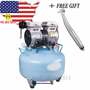 Medical Noiseless Oil Free Oilless Air Compressor 30l 550w For Dental Lab Chair