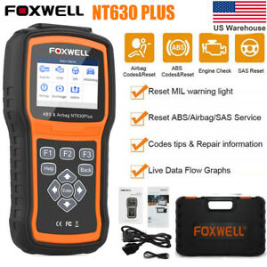 Abs Srs Airbag Diagnostic Tool Car Full Engine Obd2 Scanner Code Reader Foxwell