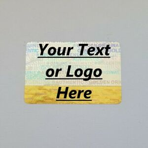 Hologram Labels Personalized Sticker Warranty Void If Removed Tamper Proof