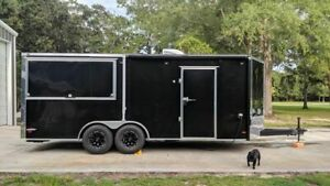 Gorgeous 2018 Custom built Used Barbecue Concession Trailer With Porch For Sale